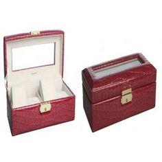 Elegante joyero para relojes. http://www.cosaspararegalar.es/regalos-para-mujeres/joyeros/joyero-relojes.html