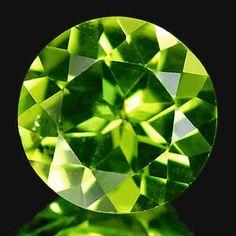 [YZ812] ROUND NATURAL GREEN PERIDOT 1.82CT, YenzShop