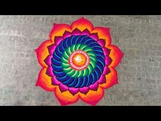 Sanskar Bharti Rangoli using powder colours - YouTube Diwali Special Rangoli Design, Rangoli Designs Diwali, Poster Rangoli, Rangoli Colours, Indian Rangoli, Beautiful Rangoli Designs, Simple Rangoli, Indian Art, Blouse Designs