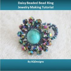 Lots of Free Jewelry Making Tutorials & Lessons: FREE How to link a Daisy Beaded Bead Tutorial