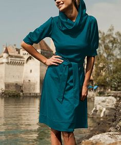 Loving this Teal Bampton Dress on #zulily! #zulilyfinds