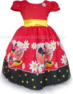 17 Melhores Imagens De Vestido Infantil Minnie Vestido Minnie