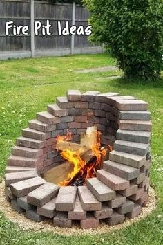 Fire Pit Ideas For My Backyard - simple DIY fire pits and fire pit designs Pictures of backyard fire pit designs, backyard fire pit ideas, patio fire pits and fire pit plans for your yard. Backyard Seating, Backyard Patio Designs, Backyard Landscaping, Country Landscaping, Modern Landscaping, Pergola Designs, Fire Pit Landscaping Ideas, Diy Backyard Projects, Backyard Decorations