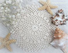 Easy Crochet Doily for Beginners   this small doily is extremely simple and easy to make