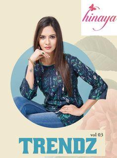 bcfec10354 Hinaya Trendz Vol-3. Textile Mart · Western top. Textilevilla pvt ltd