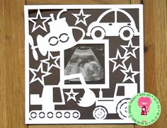 Photo Frame With Vehicles Papercut Template SVG / by DigitalGems