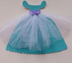 Princess dress Mermaid Princess inspired invitation for