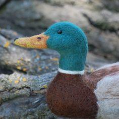 Needle Felted Mallard duck decoy