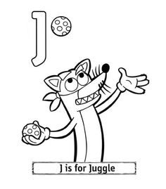 dora the explorer alphabet letter j is for juggle coloring pages