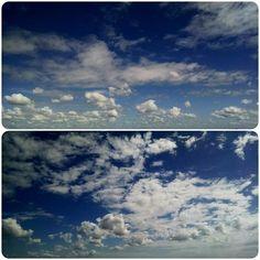 Lindo céu de ontem #sky #skycolors #skylovers #clouds #cloudsgalery #photoofclouds #pixrlexpress #picoftheday #pixrl #enjoy #igers #igersES #ig_espiritosanto #collage #eucurtomotorola #motofoto #epic_capture #bluesky #notfilter #nature #natureart #TagsForLikes #morning #goodmorning #mybest_nature
