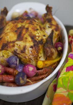 Roast Chicken With Spring Vegetables Recipe   POPSUGAR Food