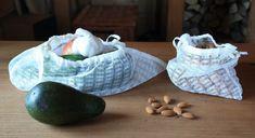 EkoEksperymenty: Firankowe woreczki na owoce, warzywa i suche produkty sypkie.