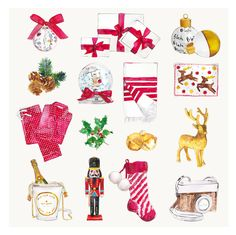 LUST LIST   Sally Spratt   fashionable, girly, delicate watercolors of lustworthy items   CHRISTMAS CARDS