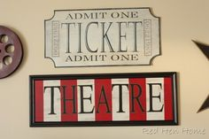 """Movie room signs """"how-to"""""""