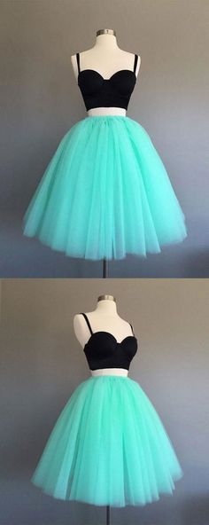 Two Pieces Homecoming Dresses, Homecoming Dresses, Green Prom Dress, Short Prom Dress, Cute Homecoming Dresses Homecoming Dresses 2019 Green Homecoming Dresses, Two Piece Homecoming Dress, Prom Dresses Two Piece, Cute Prom Dresses, Dresses Short, Trendy Dresses, Cheap Dresses, Party Dresses, Prom Gowns