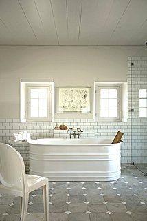 bathroom remodel Ideas Diy Dog Bath Tub Stock Tank 8 Cheap Home Gym Essentials You ca Bad Inspiration, Bathroom Inspiration, Dog Bath Tub, Galvanized Tub, Stock Tank Pool, The Design Files, Beautiful Bathrooms, White Bathrooms, Luxury Bathrooms