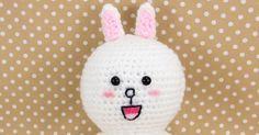 LINE Cony Crochet Amigurumi Pattern (Free) ~ Snacksies Handicraft Corner