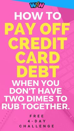 Are you struggling to pay off your credit card debt because you can't afford to pay more than the monthly minimums? Then, look no further! I paid off my credit card debt in half the amount of tim Business Credit Cards, Best Credit Cards, Credit Score, Build Credit, Chase Credit, Credit Loan, Credit Rating, Credit Check, Dave Ramsey