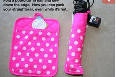 Easy way to make a cute straightener case