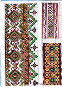 Ukrainian cross stitch pattern for men's shirts