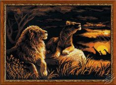 The Lions In The Savannah - Cross Stitch Kits by RIOLIS - 1142