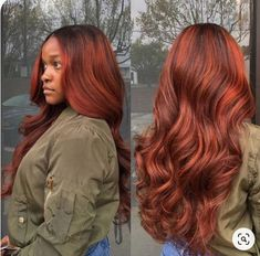 Pink-Red with Yellow Highlights - 20 Cool Styles with Bright Red Hair Color (Updated for - The Trending Hairstyle Hair Color Auburn, Auburn Hair, Hair Color For Black Hair, Auburn Red, Red Weave Hairstyles, Teen Hairstyles, Casual Hairstyles, Medium Hairstyles, Weave Hair Color