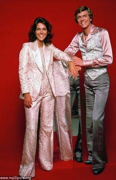 The Carpenters. In shiny pink satin. So 70s. How could I not pin this?