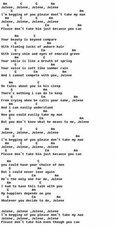 Jolene - Dolly Parton Style :) Source by Ukulele Songs Beginner, Guitar Songs For Beginners, Easy Guitar Songs, Guitar Chords For Songs, Uke Songs, Music Chords, Guitar Sheet Music, Lyrics And Chords, Piano Songs