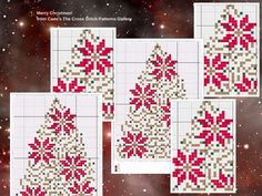 Golden Christmas Tree Cross Stitch Patter  by CamisTheCrossStitch