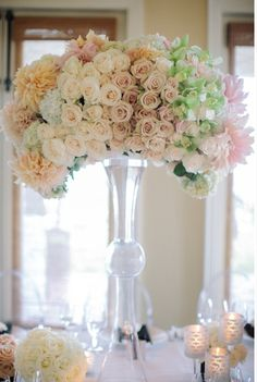 Pretty pastels tablepiece