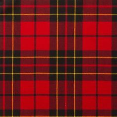 Brodie Red Lightweight Tartan by the meter – Tartan Shop