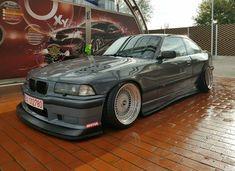 BMW E36 3 series grey slammed