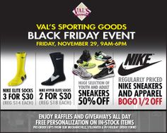 Black Friday Web Ad for Val's Sporting Goods, Mechanicville, NY
