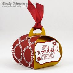 Christmas Gift Box made with Stampin' Up!'s Curvy Keepsake Box Thinlits Dies
