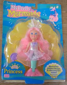 I remember playing with her in the bathtub! My Pretty Mermaids 90's toy