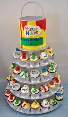 Mister Maker inspired cake