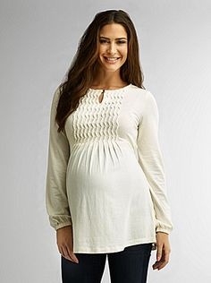 Maternity Hand-Pleated Tunic