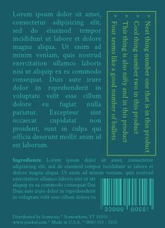 Label: Playing with text directions (and teal).