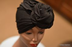 Black Turban | PRESEWN Black Head Wrap | Ready To Wear Headwrap | African Head wrap cap I Pret A Porter African Style Headtie Turban Cap #gele