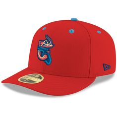 Men s Jacksonville Jumbo Shrimp New Era Red Alternate 1 Authentic  Collection On-Field Low Profile 59FIFTY Fitted Hat 8c1b2366894