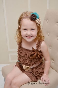 A personal favorite from my Etsy shop https://www.etsy.com/listing/254073167/brown-tuequoise-tan-petti-romper-set