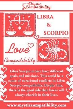 Libra Scorpio in love have different goals and missions. This could be a cause of occasional conflicts in Libra Scorpio compatibility. Despite this, there is the good side that lovers will always cherish in their lives. #Libra #Scorpio #Relationship #Compatibility #Libra_Scorpio #Relationship_Compatibility #LibraScorpio #RelationshipCompatibility #Zodiac_Signs Libra And Scorpio Compatibility, Scorpio Love, Scorpio Relationships, Relationship Compatibility, Astrology, Zodiac Signs, Lovers, Goals, Star Constellations