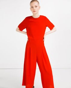 Image 2 of JUMPSUIT WITH WAIST SEAM from Zara