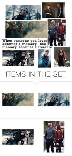 """The Maximoff Twins"" by fxndom-lxfe ❤ liked on Polyvore featuring art"