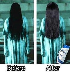 Heads and shoulders Before and After