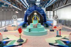 On the occasion of the Centre Pompidou anniversary celebrations, Paris-based Studio GGSV, has been invited to imagine an unprecedented event for the Galerie des enfants. Pompidou Paris, Intramuros, Van Design, July 10, Environmental Design, Retail Shop, Kid Spaces, Retail Design, Visual Merchandising