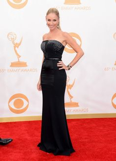 #emmyfashion Actress Tracy Pollan arrives at the 65th Annual Primetime Emmy Awards held at Nokia Theatre L.A. Live on September 22, 2013 in Los Angeles, California.