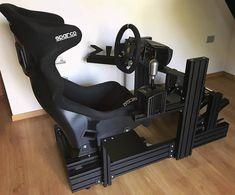 Racing Seats, Racing Wheel, Instagram Wall, Audio Studio, Racing Simulator, Xbox One Pc, Game Room Design, Tech Toys, Gamer Room