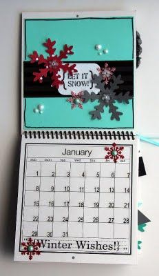 @Elizabeth Carney created this wonderful Calendar using SRM's 6 x 6 calendar, calendar months, calendar numbers and other assorted SRM Stickers.  January