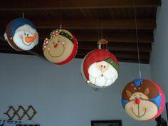 Mogolla Christmas Bulbs, Xmas, Snowman, Quilts, Holiday Decor, Home Decor, Christmas Baubles, Christmas Crafts, Wreaths
